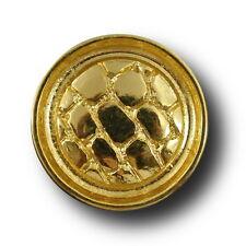 8 glänzend goldfarbene Knöpfe (3129go-23mm)