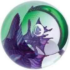 Caithness Glass Space Gems paperweight, emerald & purple