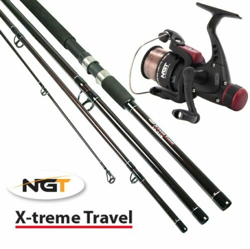 1 x NGT 9FT 4 PIECE TRAVEL FISHING ROD + CKR30 REEL COMBO WITH 8LB LINE