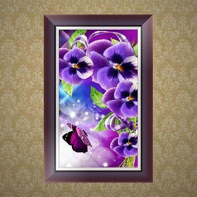 DIY 5D Diamond Rhinestone Embroidery Orchid Painting Cross Stitch Home Decor