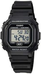 Casio-Illuminator-Men-039-s-Quartz-7-Year-Battery-Black-Resin-42-5mm-Watch-F108WH-1A