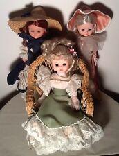 Vintage Zanini Zambelli FURGA Lot Of Three Dolls Made In Italy Gorgeous