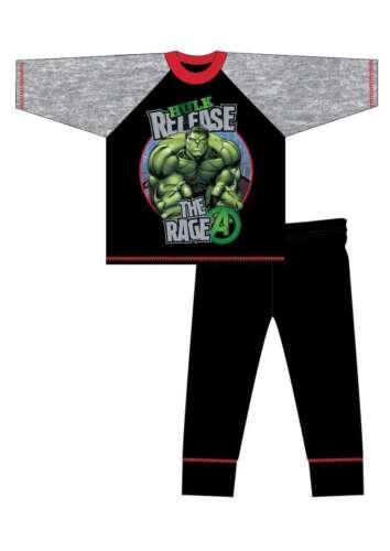 5-6 7-8 9-10 Years Boys Official Avengers Hulk Pyjamas Size Age 4-5
