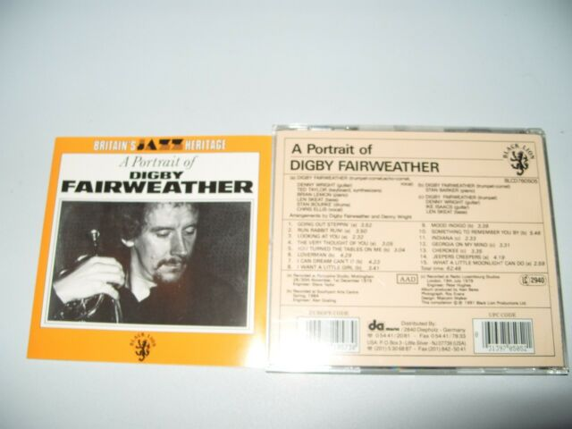 Digby Fairweather A Portrait Of (1991) 15 Tracks 1991 cd + Inlays Are Near Mint