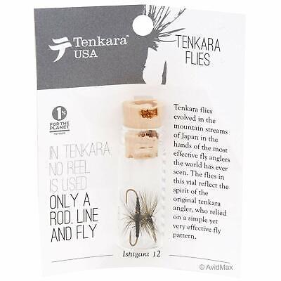 Amano Sakasa Ishigaki 12 Pack Tenkara Kebari 4 different flies with case