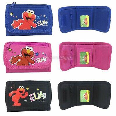 Elmo Portafogli Set Di 3 Ragazze Bambini Fumetto Per Portamonete Avere Sia La Qualità Della Tenacia Che La Durezza