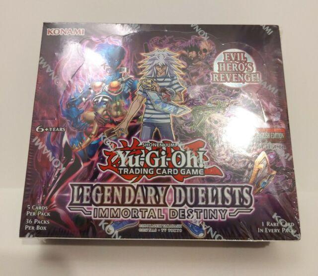 Yu-Gi-Oh! Legendary Immortal Destiny Duelists Booster Box 1st Ed! New Sealed LED