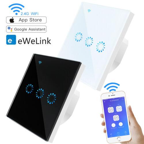 eWelink WiFi Glas Touch Lichtschalter Fernbedienung Weiß Schwarz Wandschalter EU