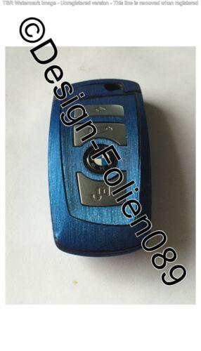 Blau Gebürstet Glanz Schlüssel Folie BMW F-Serie F01 F02 F10 F11 F12 F13 F25 M