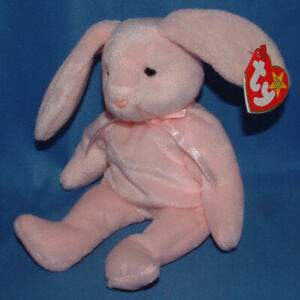 Ty 'Hoppity The Rabbit' With Tag, Beanie Baby, Brand New, Never Handled! Mint!