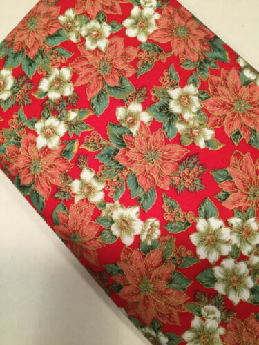 100/% Cotton Christmas By Fabric Metre /& Fat Quarters Festive Craft Sewing X59