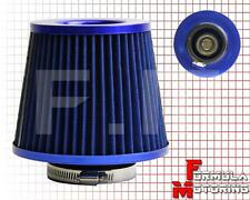 """3"""" 6.75""""H COLD/SHORT RAM INTAKE ROUND/CONE DRY TURBO AIR FILTER UNIVERSAL BLUE"""