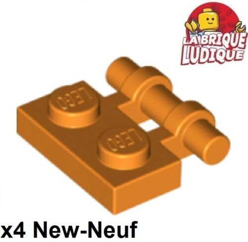 Lego 4x Plate Modified 1x2 Handle on Side orange 2540 NEUF
