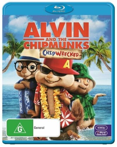 1 of 1 - Alvin And The Chipmunks - Chipwrecked (Blu-ray, 2012) *New & Sealed* Region B