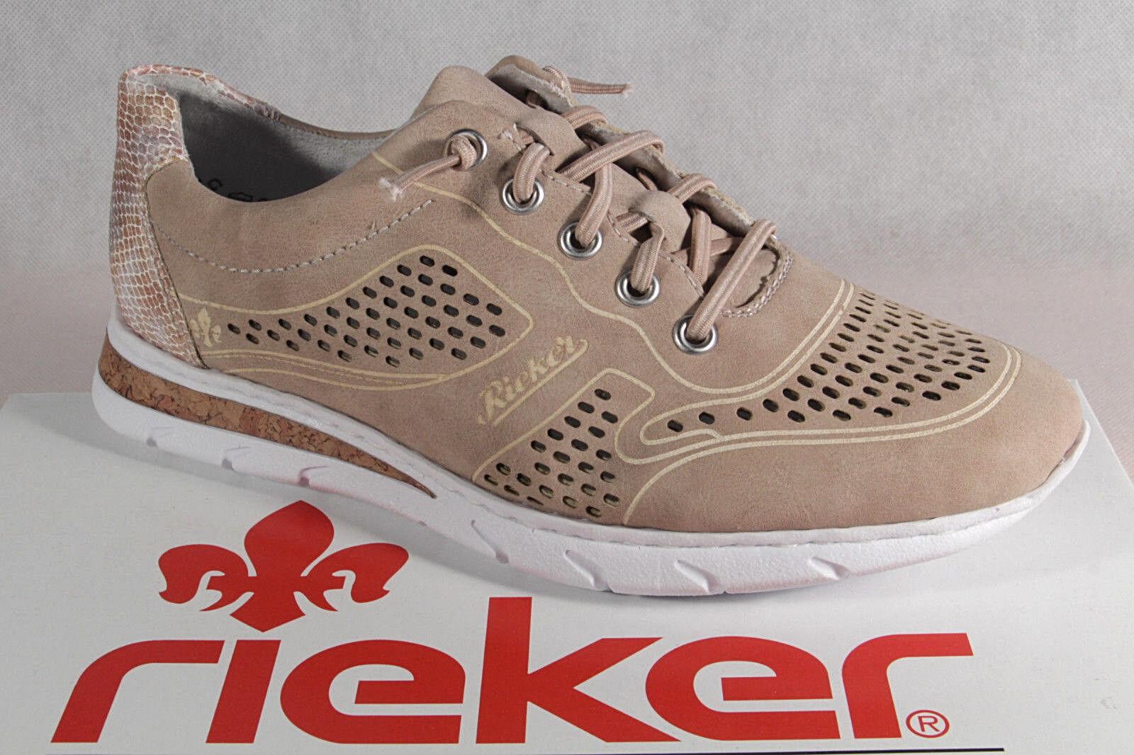 Nuevos zapatos para hombres y mujeres, descuento por tiempo limitado Rieker señora mocasines bailarinas zapatos abotinados salón rosa m5735 nuevo!