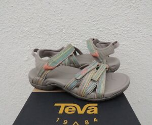 3c360e4cca6 Image is loading TEVA-TIRRA-TAUPE-MULTI-STRAPPY-SPORT-WATER-SANDALS-