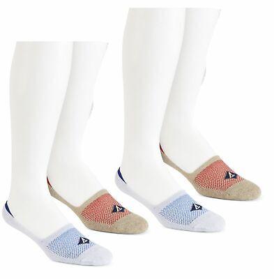 $40 Sperry Top-Sider Men`S 3 Pair Pack Black Blue No-Show Liner Socks Shoe 6-12