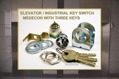 MOMENTARY DPST CONTACTS HIGH-SECURITY MEDECO KEY SWITCH TWO HIGH-SECURITY KEYS