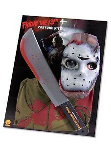 come scegliere nuovo prodotto Guantity limitata Dettagli su KIT JASON VENERDI' 13 Halloween Costume Carnevale Accessori  Horror Armi 17058