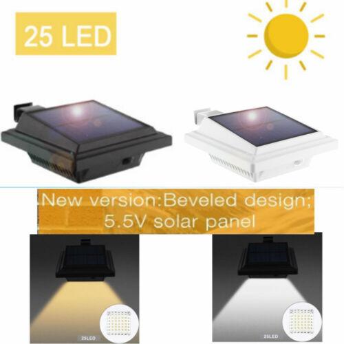 25 LEDs Solar Power Gutter Fence Light Garden Outdoor Yard Wall Pathway Lamp US