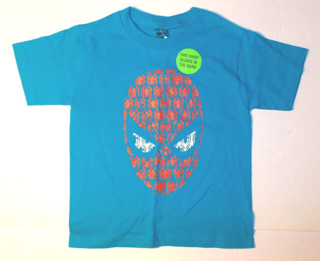 Marvel Black Panther Boys Shirt Size 4 5 6 7 Small XS S Glow In The Dark