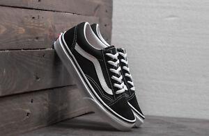 Simple Vans Scarpe Uomo Donna Old Skool Black/white Originali Skate Sneakers Tela Vd3hy Beau Travail