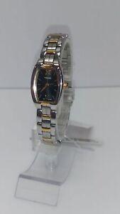 Pulsar-Women-039-s-Watch-Quartz-Black-Dial-Two-Tone-Bracelet-PEGE66