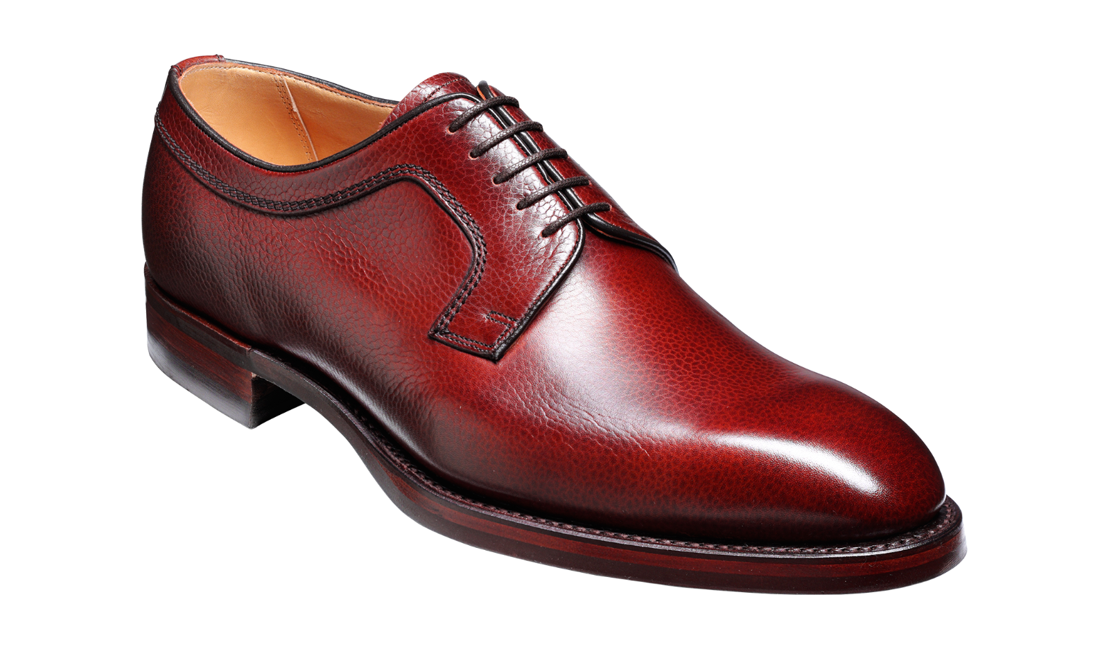 Skye Cherry Grain Derby Full Leather schuhe with durable Dainite sole by Barker