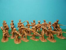 ARMIES in Plastic 1/32 SCALA Confederato Fanteria x20 (Butternut)