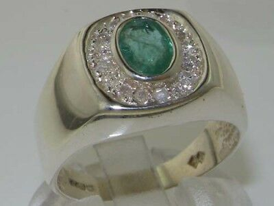 Sizes 6 to 12 Details about  /925 Sterling Silver Natural Onyx /& CZ Mens Signet Ring