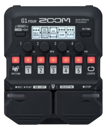 ZOOM G1 FOUR Multieffektpedal E-Gitarre Effekt Pedal Amp Software Looper Drum
