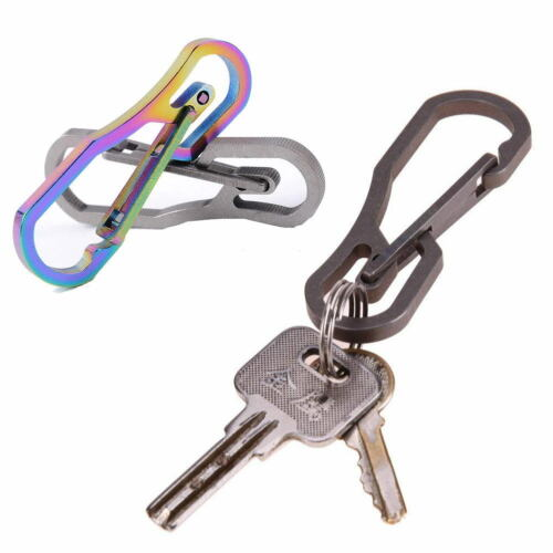Titanium Hanging Buckle Quickdraw Carabiner Clip Snap Hook Keyring Keychain