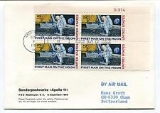 1969 Apollo 11 Washington DC First Man on the Moon Switzerland Space Cover