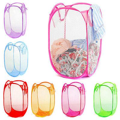NewCandy Folding Washing Clothes Mesh Basket Bra Storage Collapsible Laundry Bag
