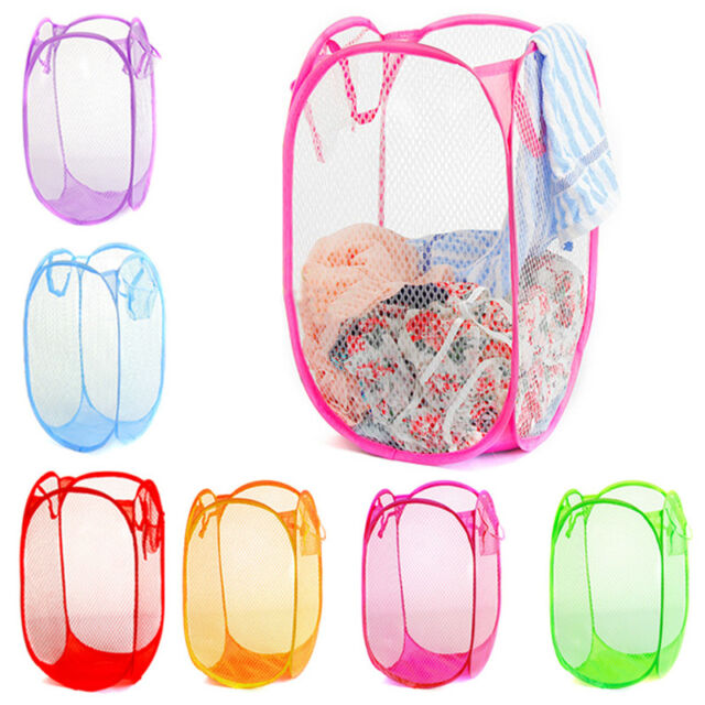 NewCandy Folding Washing Clothes Mesh Basket Bra Storage Collapsible Laundry Bag