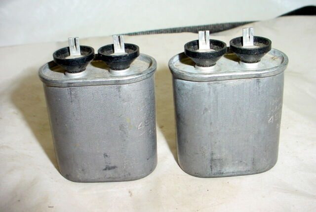 2 GE 2 5 MFD 236vac (472vdc) Oil Capacitors Tested Good