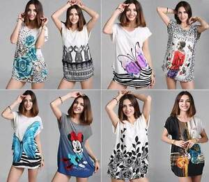 Women-Fashion-Tunic-T-shirt-Blouse-Top-Shirt-Mini-Dress-Plus-Size-Bohemia-8-18