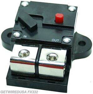 Details about 500-AMP 1/0, 0, 1, 2, GAUGE AWG WIRE CIRCUIT BREAKER HEAVY DUTY CAR AUDIO MARINE