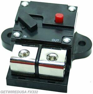 300-AMP 1/0, 0, 1, 2, GAUGE AWG WIRE CIRCUIT BREAKER HEAVY DUTY CAR AUDIO MARINE