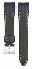 Compatible Seiko Sportura SNAE67P1 21mm Black Genuine Leather Watch Strap SKO112