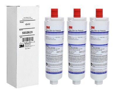 3 X Confezione 3m Cs-52 Filtro Acqua - Bosch – Siemens– Neff, 3m, Cuno