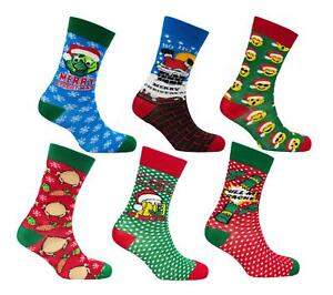 Mens-6-Pack-Novelty-Christmas-Socks-Adults-Xmas-Festive-Clothing-Gift