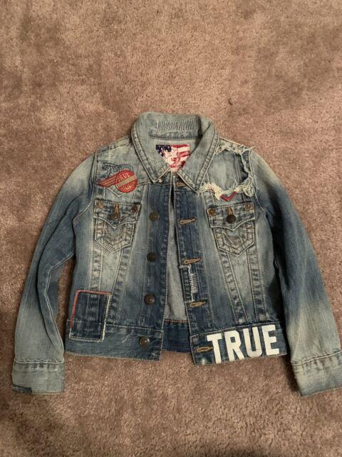 Kids True Religion Jean Denim Jacket Size XS VERY NICE ...