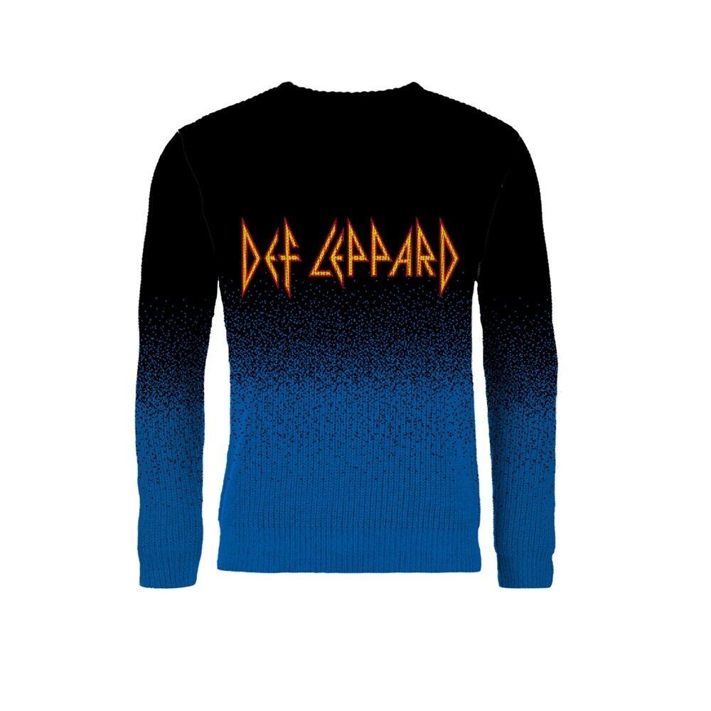 Def Leppard 'Logo'' Dip Dye Knitted Jumper - NEW christmas xmas