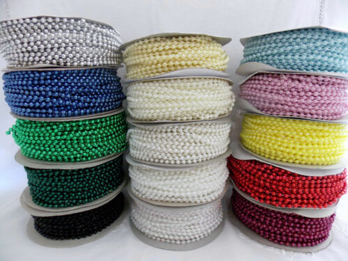 3mm Pearl Trim String Bead Spool  for Crafting Accent Scrapbooking Decorations