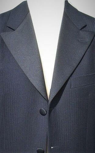NAVY BOYS 3//4 PRINCE EDWARD SATIN LAPEL JACKET WEDDING PROM DRESS UP BOOK DAY