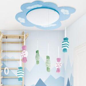 Decken Kinder Baby Zimmer Wolken Lampe Hange Leuchte Deko Glitzer