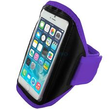 """iPhone 6 (4.7"""") Purple Padded Arm Band Mobile Phone Holder for Running, Jogging"""