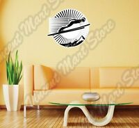 Ski Jumping Athletics Winter Olympic Ski Wall Sticker Interior Decor 22x22