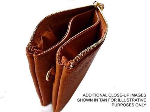 Small Money Coin Purse Handbag Organiser Multipocket Bag Clutch Wrist Long Strap